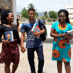 Students on the HCC campus in Accra, Ghana